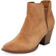 Dolce Vita Women's Jadie Mid Heel Bootie - Brown, Size 10 (195 PEN) ❤ liked on Polyvore featuring shoes, boots, ankle booties, brown, brown boots, bootie boots, mid heel booties, faux-fur boots and dolce vita booties