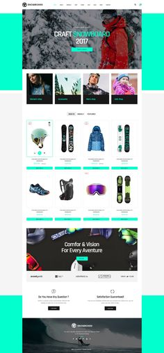 Snowboard - Ski Equipment WooCommerce WordPress Theme #skateboards #ski equipments #snowboards to mountain bikes • Download ➝ https://themeforest.net/item/snowboard-ski-equipment-woocommerce-wordpress-theme/20131301?ref=rabosch