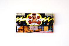 Tabaktasche ALF Comic upcycling Unikat! Tabakbeutel, Tabaketui, 80er Kultserie außerirdische Lebensform Tasche Recycling handmade in Berlin von PauwPauw auf Etsy