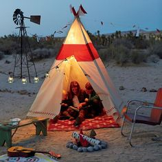 In, Out, All About Teepee - its sturdy construction makes in durable for indoor & outdoor play.