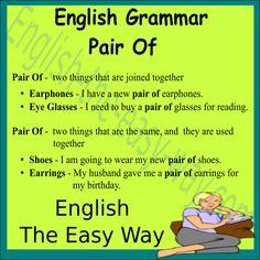 English Grammar I need a pair of _________. 1. shoes 2. pants 3. both #EnglishGrammar
