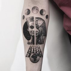 Ancient Egyptian Pharoah Tattoo with Moon Stages and Globe #tattoo @bangbangnyc @oscarakermo #realism #black #ink #inked #tattooartist #art #artistic #realistic #tattoo #tattoos #portrait #love #bangbangtattoo #newyork #nyc #bangbangnyc #bangbangforever #oscarakermo #ancient #egyptian #egypt #moon #stages #moonstages #ancientegyptian #globe #world #maze #mummy #pharoah #drawing #tattooart #arm