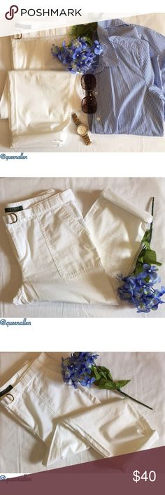 """⛲️Lauren Ralph Lauren Pants-Petite⛲️ -Made in the Philippines 🇵🇭  -Material: 100% Cotton -Style: Cropped/Ankle -Size: 10 Petite/ Inseam 22"""" -Season: Spring/Summer -Easy transition from work to play Lauren Ralph Lauren Pants Ankle & Cropped"""