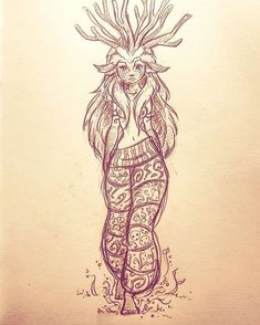 The spirit of the forest girl version! From princess mononoke ^^ #art #draw #drawing #illustration #concept #conceptart #sketch #doodle #sketchbook #character #design #studioghibli #ghibli #princess #mononoke #spirit #forest #girl #hippie #bohemian #boho #deer #nature #fantasy #fairy #lovely #free