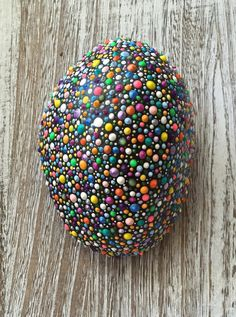 Fun, colorful rock to brighten your home or garden.