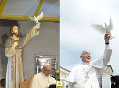 Saint Francis and Pope Francis. ❤