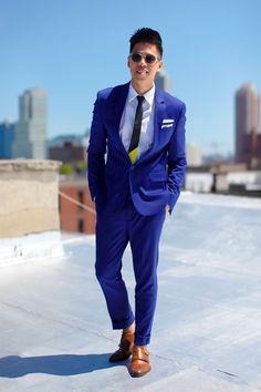 Blue summer suit