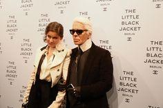 Karl Lagerfeld & Laetitia Casta