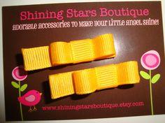 mini bow hair clippies