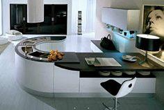 cocina estilo futurista