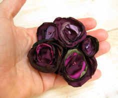 Blossom in Purple   Fabric Flowers Corsage  Tagt Team  by odpaam, $19.90