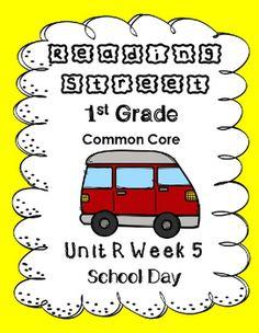 $3 - Reading Street.Unit R Week 5. School Day.Centers/Focus Wall