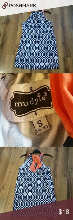 Mudpie swimsuit cover-up. This swimsuit cover-up is from the brand Mudpie. It is a size small 4-6. It has never been worn!!!! Mud Pie Swim Coverups