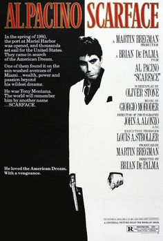 Scarface (1983) Scarface Film, Scarface Poster, Michelle Pfeiffer, Al Pacino, Iconic Movie Posters, Iconic Movies, Vintage Movies, Movie Posters, Florida