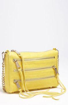 yellow @rebeccaminkoff bag ~