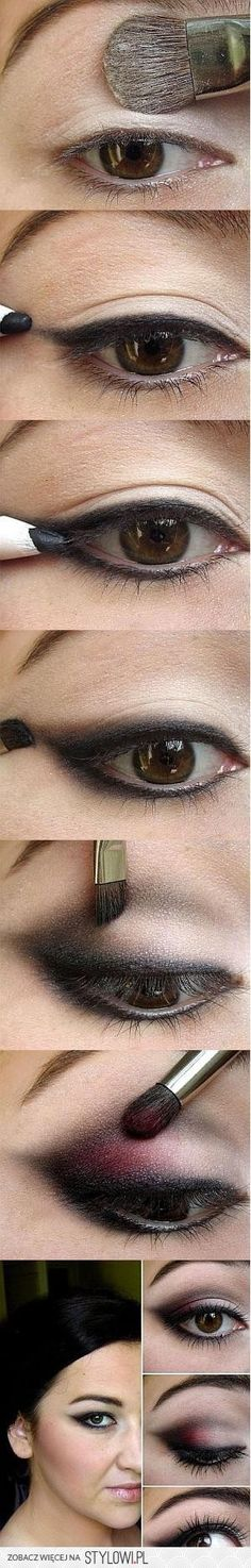 Mixing a bold color into a smokey eye is so chic #loveit