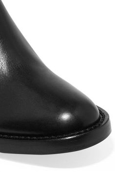 Ann Demeulemeester - Leather Ankle Boots - Black - IT39.5