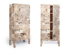 Covered in birch bark, the surprising furniture collection from Netherlands-based furniture designer Werner Neumann has everything it needs to be successful