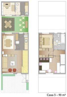dicas de plantas de sobrados de até 90 m²