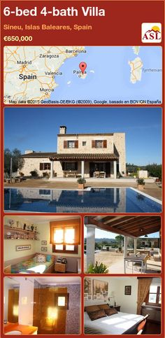 Villa for Sale in Sineu, Islas Baleares, Spain with 6 bedrooms, 4 bathrooms - A Spanish Life Informal Dining Rooms, Central Island, Barbecue Area, Open Fireplace, Guest Bathrooms, Second Floor, Ground Floor, Bungalow, Terrace
