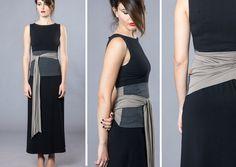 The dual-color Obi belt Wrap belt Waist belt Waist cincher Blue Jeans, Ceinture Large, Cloth Belt, Waist Cincher Corset, Obi Belt, Professional Attire, Japanese Outfits, Dress Picture, Wrap