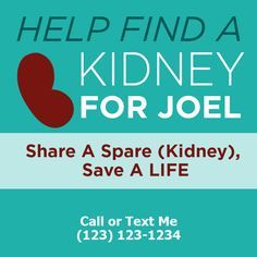 Kidney Donor, Save My Life, Text Me, Medium, Healthy Living, Campaign, Content, Wealth, People