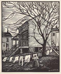 Charles W. Smith, Jackson Ward, linocut