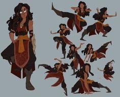 Farah Alavi, es una guerrera Giptiana y aliada incondicional de Lidia y Damian