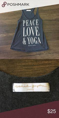 Spiritual gangster peace love and yoga small Worn once. Smoke free pet free home Spiritual gangster Tops Tank Tops