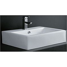 For the g bathroom - might be a bit large but like the look! @Overstock.com.com - Accentuate your bathroom decor with this rectangular porcelain bath vessel sink  Bathroom sink boasts a versatile white hue that blends with any look  Home improvement accessory is made of vitreous chinahttp://www.overstock.com/Home-Garden/Rectangular-Porcelain-Bath-Vessel-Sink/3650814/product.html?CID=214117 $139.99