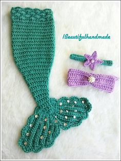 Newborn  Girls Mermaid Tail Photography Prop SET, disney princess little mermaid, Newborn Photo Prop