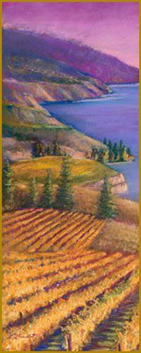 Naramata, British Columbia on Okanagan Lake by Louise Lambert Wine Painting, Area Map, Wine Art, Wine Country, British Columbia, Places To See, Scenery, Travelogue, Wineries