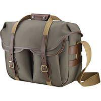 Billingham Hadley Large Pro Shoulder Bag (Sage Fibrenyte & Chocolate Leather)