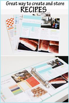 A great way to create and store recipes. Save them in a folder on your phone (for easy access) and can also print them out for a recipe book. Save the pages to print for gifts or kids when they move out of the house! Recipe Organization, Organization Hacks, Project Life, Worst Cooks, Homemade White Bread, Recipe Binders, Cookbook Recipes, Cookbook Ideas, Menu Planning