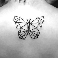 Beautiful Geomitric Butterfly Tattoo Idea