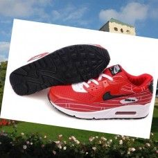 purchase cheap 5b413 13ef9 WSRD453 Herre Nike Air Max 90 running Sko Rød Sort  T3BUZ