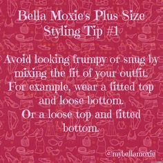 Plus Size Styling Tip 1
