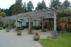 Entrance to the Graham Visitor Center and patios used for weddings, parties, meetings and sales year round.