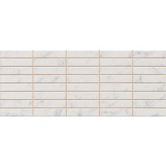 Florence Marbled White Mosaic Wall Tile (Gloss - 200 x 500mm)
