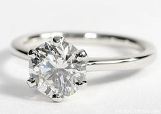 solitaire round engagement rings with 2 thin bands | Top 20 Engagement Rings by Blue Nile | Wedding Dress | Bridal ...