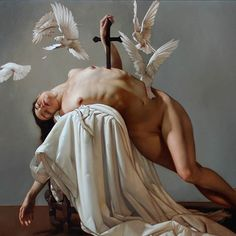 Beautiful work by masterful Italian painter Roberto Ferri ( titled 'Il Canto della Virgin' (The song of the virgin) Baroque Painting, Baroque Art, Caravaggio, Italian Painters, Art Sites, Portraits, Classical Art, Rembrandt, Insta Photo