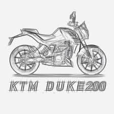 image result for sketch ktm duke 200