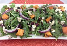 Rose Reisman shares her nutritious arugula lentil sweet potato salad recipe. Healthy Thanksgiving Recipes, Vegetarian Recipes, Cooking Recipes, Salad With Sweet Potato, Potato Salad, Lentil Salad, Arugula, Lentils, Soul Food