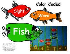 Kindergarten Scott Foresman Reading Street Color Coded Sight words $