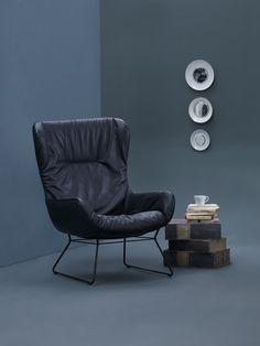 Wingback Chair Leya in a Lounge Atmosphere | FREIFRAU Sitzmöbelmanufaktur (www.freifrau.eu)