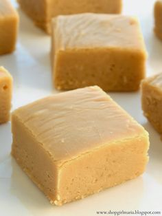 Peanut Butter Fudge Recipe ~ If you are a peanut butter lover, you will love this super creamy fudge!