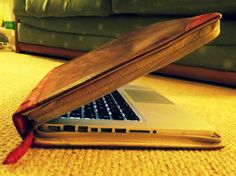 Day 17: Technology. My mum's Macbook, hidden inside a faux antique book case. The irony! By Phthalo Green