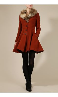 Louche Bronwyn Fit And Flare Coat