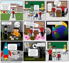 """#storytelling_INTEF. Storyboard That is a great tool. Really easy and intuitive usage. I hope you like this story: """"Problems at school"""""""