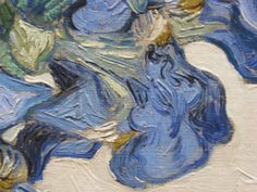 Detail from Irises by Vincent Van Gogh
